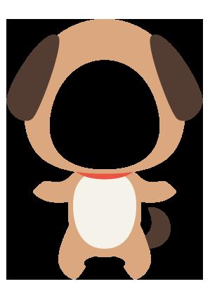 犬の着ぐるみ