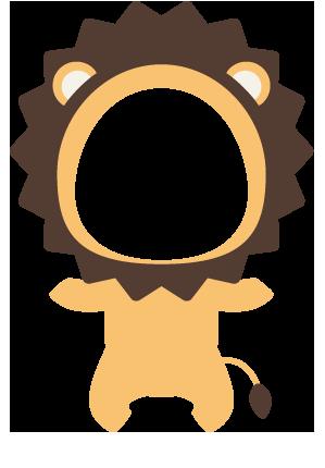 ライオンの着ぐるみ