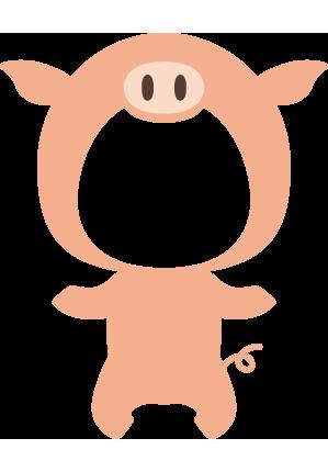 豚の着ぐるみ